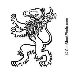 LION heraldic stilisiert 01.