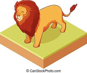 Lion isometrische Ikone 2.