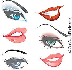 Lippen & Augen bereit
