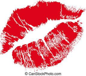 Lippenmal mit Textraum