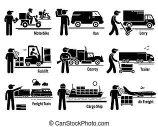 Logistisches Transportfahrzeug bereit.
