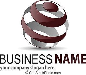 Logo 3D-Sphäre