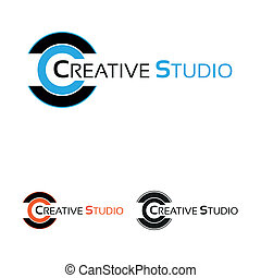 logo, arbeit, studio, kreativ