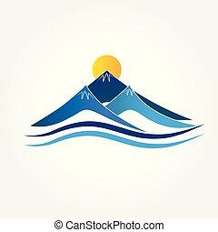 Logo blaue Berge.