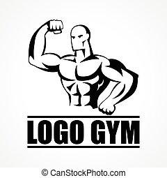 logo, bodybuilder