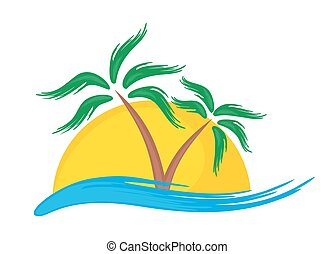 Logo der tropischen Insel.
