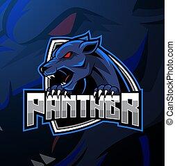 logo, design, panther, böser , maskottchen