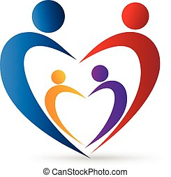 Logo Familienunion in einem Herzen.