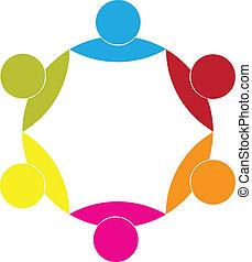 Logo Geschäftspartner Gewerkschaft Icon Konzept.