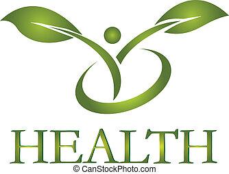 logo, gesunde, vektor, leben