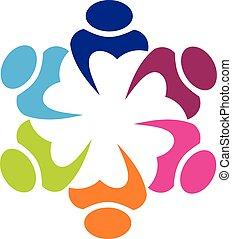 Logo Gewerkschaftspartner Icon Konzept.