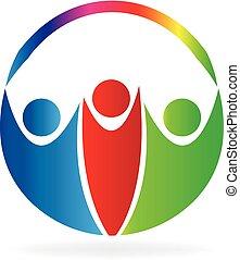 Logo glückliche Menschen.