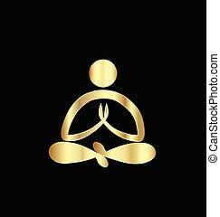 Logo Gold Yoga-Mann.