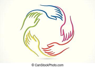Logo Hands Einheit.