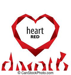 Logo Herz aus rotem Band.