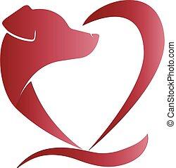 Logo Hund in Herzform.
