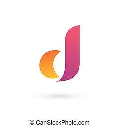 logo, ikone, d, brief