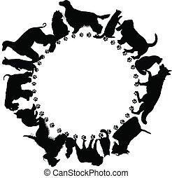 logo, katzen, hunden