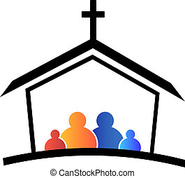 logo, kirche, familie, glaube