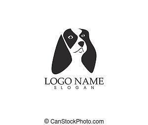 logo, kopf, hund