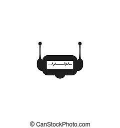 logo, kopf, roboter