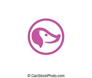 logo, kopf, vectors, hund