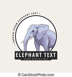 logo, korporativ, elefant