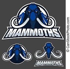 logo, mammut, maskottchen