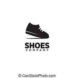 logo, mann, vektor, design, schuhe, schablone