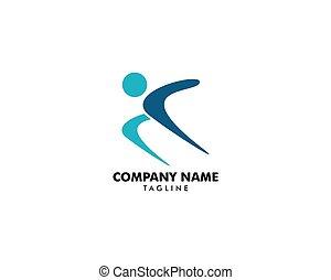 logo, menschliche , rennender , zeichen, vektor