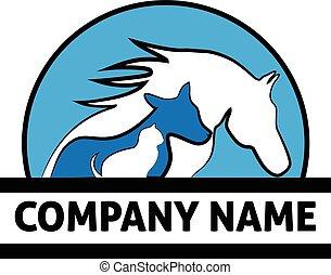 Logo Pferd Katze und Hund.