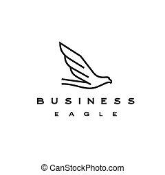 logo, schablone, design, adler, kunst, linie, vektor