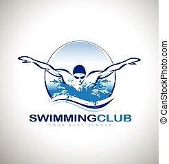 logo, schwimmender