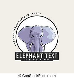 logo, sie, elefant