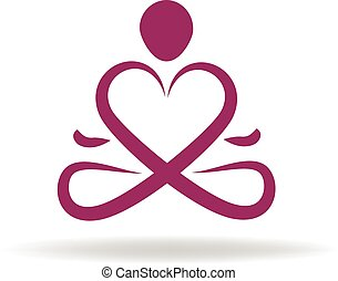 logo, symbol, liebe, joga