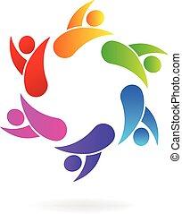Logo-Teamwork-Business-Leute.