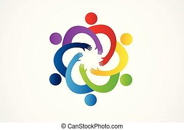 Logo Teamwork Einheit.
