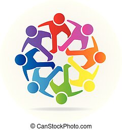 Logo Teamwork Freundschaft Icon