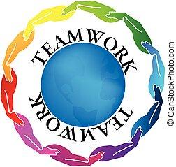Logo Teamwork Hände.