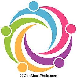 Logo Teamwork Symbol Design.