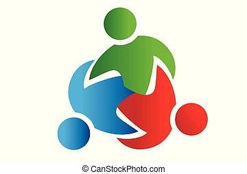 Logo Teamwork Test Partner Menschen