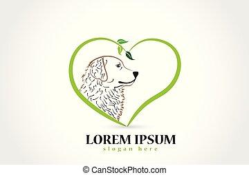 logo, vektor, hund