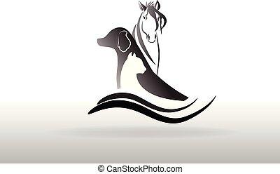 logo, vektor, veterinär, ikone