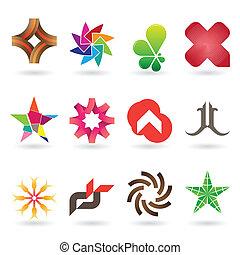 logo, zeitgenössisch, sammlung, ikone
