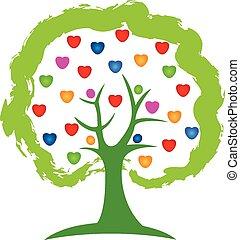 Logobaum liebt Herzvektor