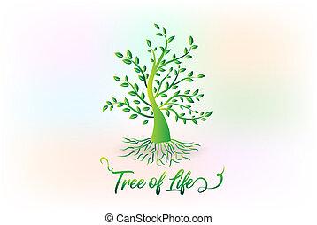 Logobaum mit Blättern Ökologie Symbol.