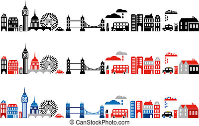 london, abbildung, stadt, vektor