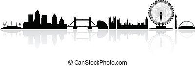 london, skyline silhouette