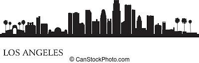 Los Angeles City Skyline Silhouette Hintergrund