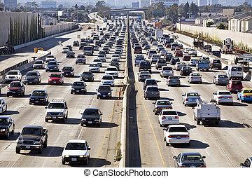 Los Angeles Freeway Traffic... die 405